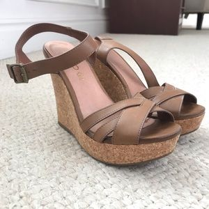 Tan/nude/brown wedges from Aldo